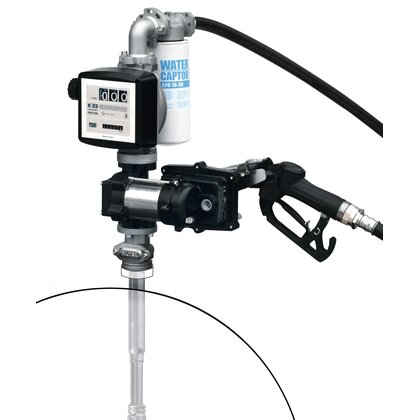 Benzinbetankungsset – 230V – 50 Liter/min. – automatische Zapfpistole – manuelles Zählwerk